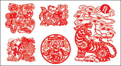 Link toVector chinese paper cutting