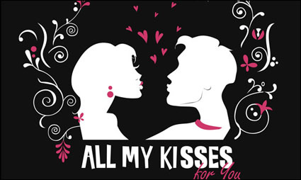 Link toGive you all my kisses vector