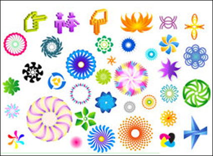 Link toColorful rotating pattern vector material