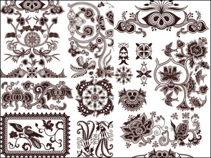 Link toExquisite classic traditional pattern vector material