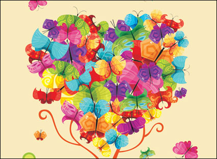 Link toColorful butterfly vector composed of trees