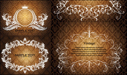 Link toOu luxuriant lace pattern vectors