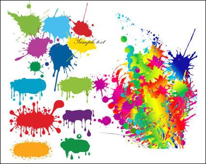 Link toColor ink drops graffiti vector material