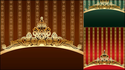 Link toGold ornate pattern vector material