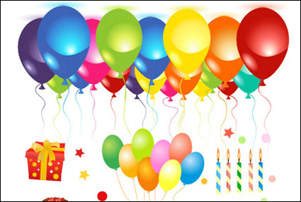Link toBirthday celebrations vector of material