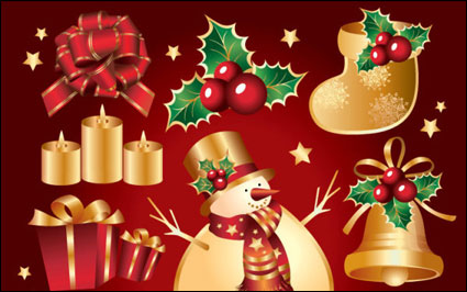 Link toAureate christmas element vector of material