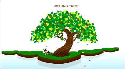 Link toWish tree vector of material