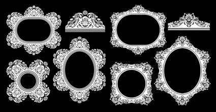 Link toEuropean classical decorative pattern frame vector of material