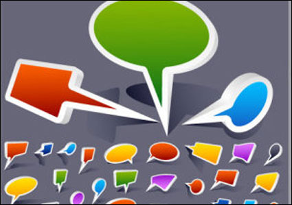 Link toComic style speech bubble vector material