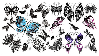 Link toBeautiful butterfly totem vector