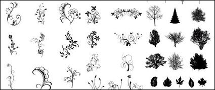 Link toBlack and white leaves vector