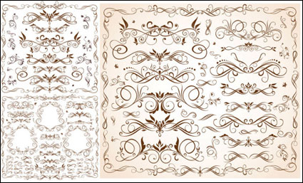 Link toVector delicate lace stripes