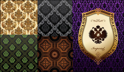 Link toBackground of ornate classical european pattern vector material