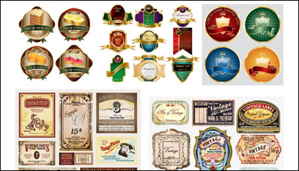 Link toVariety of european-style label vector