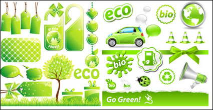 Link toLow-carbon green theme icon vector material