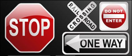 Link toCrystal traffic sign icon vector material