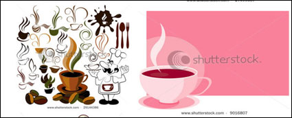 Link toVector coffee icon and background material