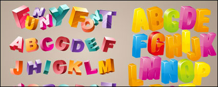 Link toLovely three-dimensional letters vector