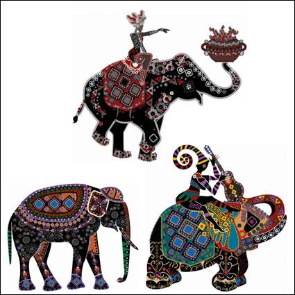 Link toEthnic customs fine decorative painting vector