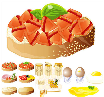 Link toRich and delicious food) (vector material