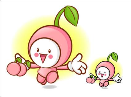 Link toLove the cartoon super fruit vector 6