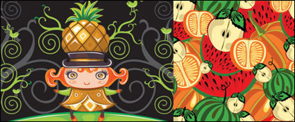 Link toCute colorful fruit vector