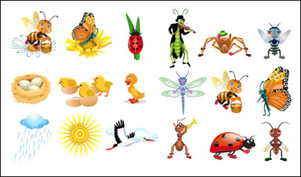Link toCute cartoon vector insects