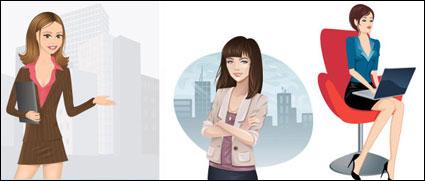 Link toCareer women vector of material