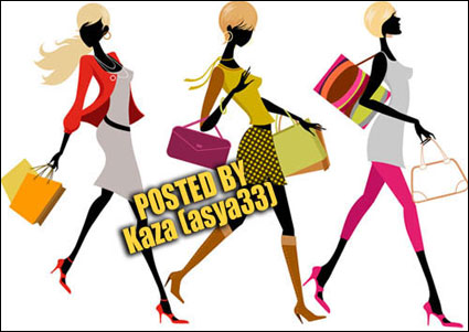 Fashion women vector material