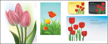 Link toTulips vector of material