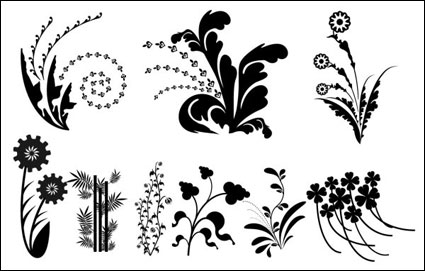 Link toVector silhouette black and white leaves