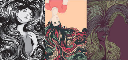 Link toCool female complex hair vector of material