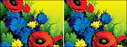 Link toGorgeous flowers vector of material