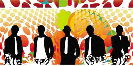 Vector silhouette of a variety of people