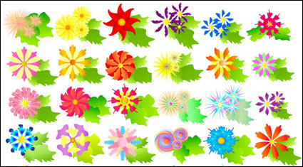 Link toColorful flowers vector of material