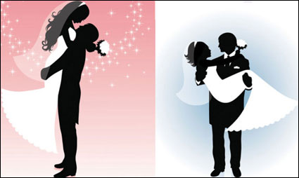 Link toVector people silhouette wedding