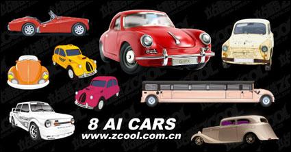 Link to8 beautiful car vector material
