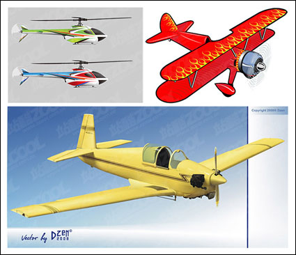 Link to3 aircraft vector material