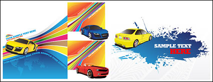 Link toColorful background with the vehicle vector