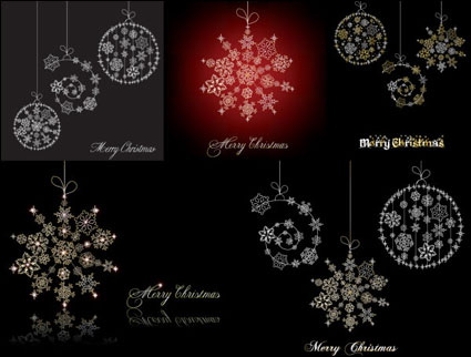 Link toSnowflake ornaments vector