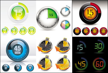 Link toWatches and instruments - vector