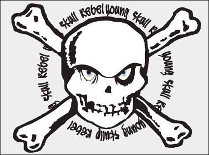 Link toVector skull stamp