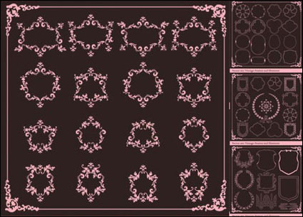 Link toEuropean classic lace border vector