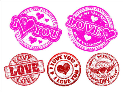 Link toValentine's day romantic elements - vector