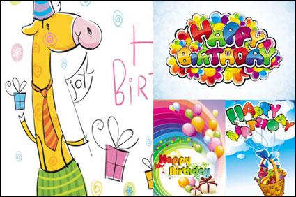Link toCartoon happy birthday vector material