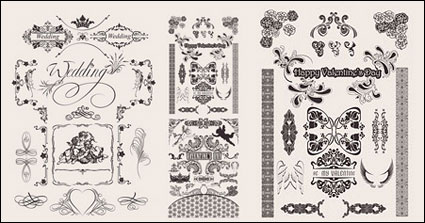 Link toWedding lace pattern vector material