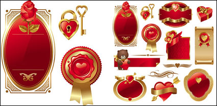 Link toValentine's day heart element vector material
