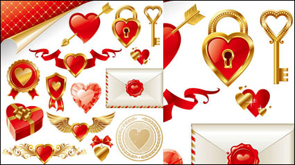 Link to++golden love element vector material++