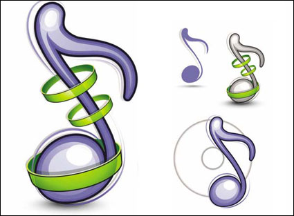 Link toMusic icons - vector