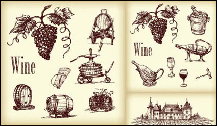 Link toVector line drawing wine